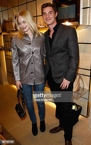 Annabelle Horsey and Max Brown attend the Tod's JP Loafer Collection Cocktail Party at Tod's on March 31 2009 in London England