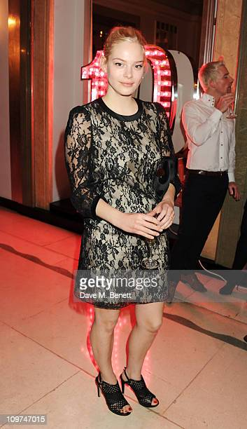 Annabelle Horsey attends the Glamour 10th Birthday Dinner at Claridges on March 3 2011 in London England