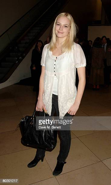 Annabelle Horsey attends the private view of 'Brilliant Women 18th Century Bluestockings Bryan Adams' at the National Portrait Gallery on March 11...