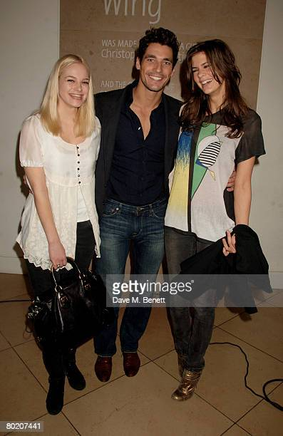 Annabelle Horsey David Gandy and Chloe Pridham attend the private view of 'Brilliant Women 18th Century Bluestockings Bryan Adams' at the National...