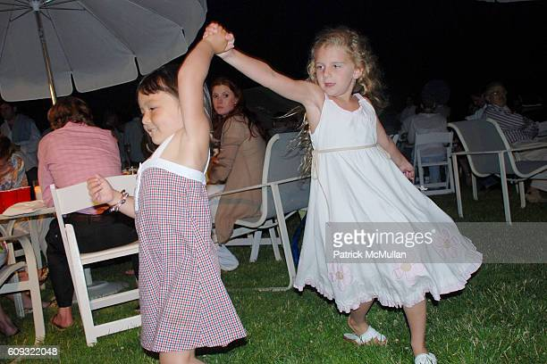 Annabelle Kim and Anna Burns attend DELLA FEMINA'S FOURTH OF JULY PARTY at East Hampton on July 7 2007