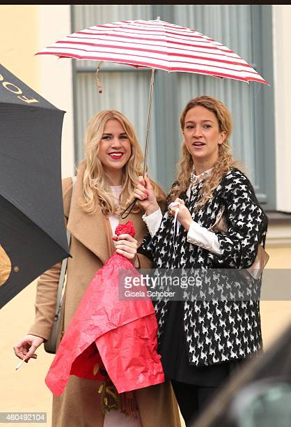 Annabelle Krug daughter of Martin Krug attend the wedding of Gil Ofarim and Verena Brock on December 15 2014 in Ismaning Munich Germany