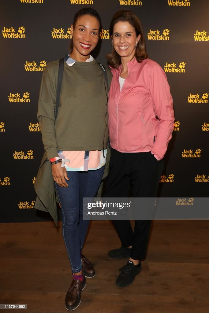 new style a69e0 e7b4d Annabelle Mandeng and Kerstin Pooth of Jack Wolfskin attend ...