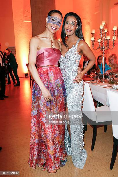 Annabelle Mandeng and Marie Amière attend the Bal Masque 2015 on March 21 2015 in Hamburg Germany