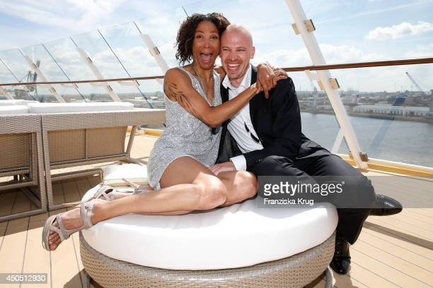 Annabelle Mandeng and Matthias Pieper attend the christening of the ship 'Mein Schiff 3' on June 12 2014 in Hamburg Germany