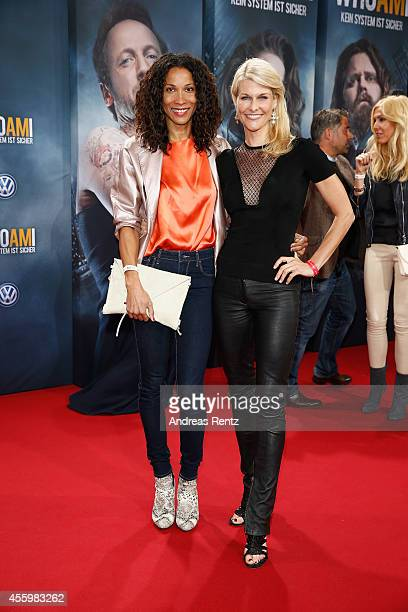 Annabelle Mandeng and Natascha Gruen attend the premiere of the film 'Who am I' at Zoo Palast on September 23 2014 in Berlin Germany