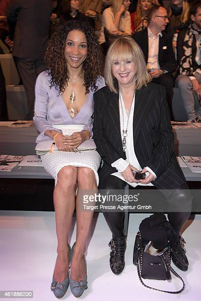 Annabelle Mandeng and Patricia Riekel attends the Paper London presented by MercedesBenz and Elle show during the MercedesBenz Fashion Week Berlin...
