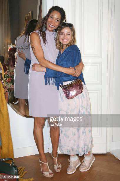 Annabelle Mandeng and Sarah Alles during the Klambt Style Cocktail at HENRI Hotel on July 3 2018 in Berlin Germany