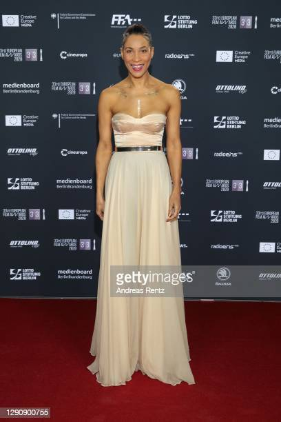 Annabelle Mandeng attends the 33rd European Film Awards at Futurium on December 12, 2020 in Berlin, Germany.