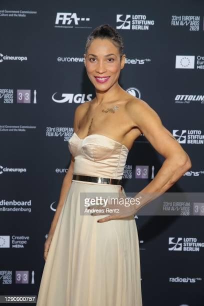 Annabelle Mandeng attends the 33rd European Film Awards at Futurium on December 12, 2020 in Berlin, Germany.