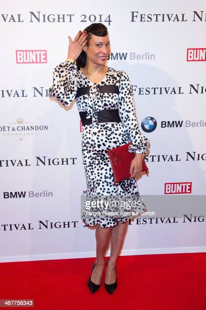 Annabelle Mandeng attends the Bunte BMW Festival Night 2014 at Humboldt Carree on February 7 2014 in Berlin Germany