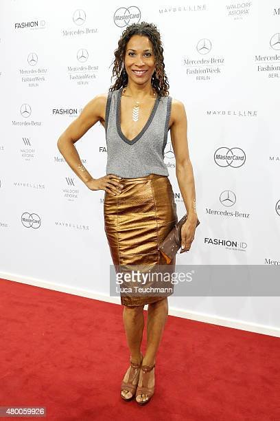 Annabelle Mandeng attends the 'Designer for Tomorrow' by Peek Cloppenburg and Fashion ID show during the MercedesBenz Fashion Week Berlin...