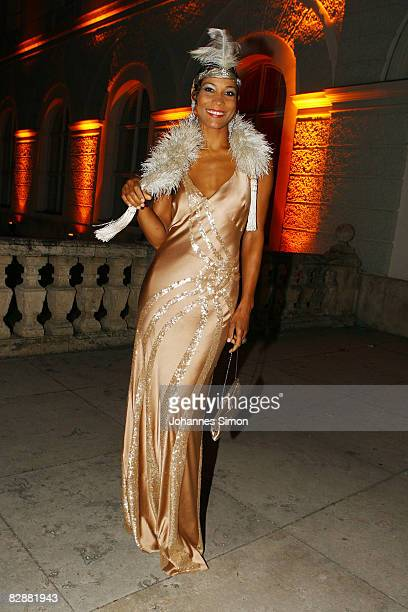 Annabelle Mandeng attends the 'Fabulous Celebration' at Nymphenburg Castle on September 18 2008 in Munich Germany French champagne producer Moet...