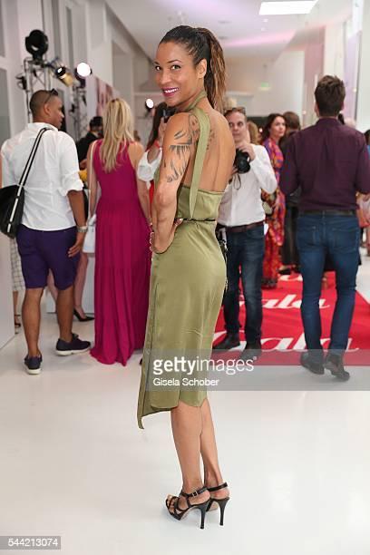 Annabelle Mandeng attends the 'Gala' fashion brunch during the MercedesBenz Fashion Week Berlin Spring/Summer 2017 at Ellington Hotel on July 1 2016...