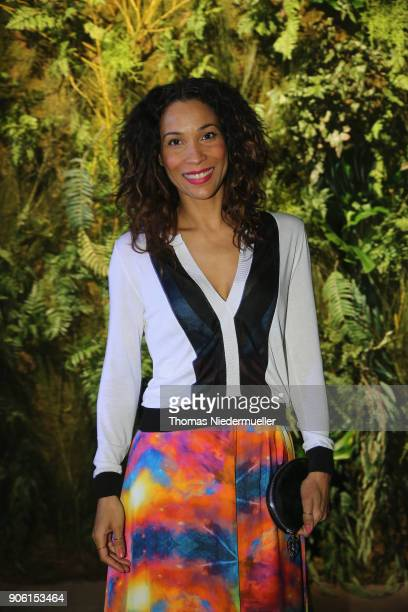 Annabelle Mandeng attends the Greenshowroom Ethical Fashion Show Berlin at Kraftwerk Mitte on January 17 2018 in Berlin Germany