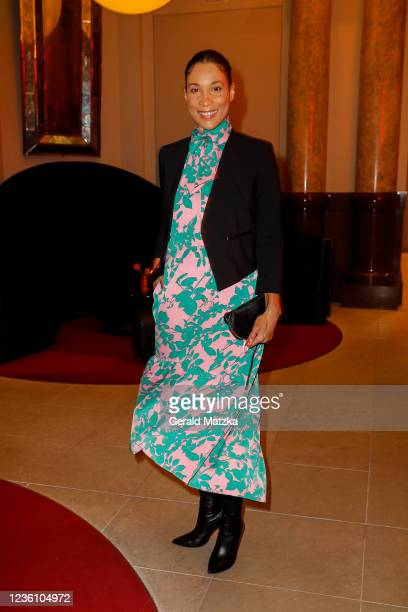 Annabelle Mandeng attends the opening of the restaurant Chiaro at Hotel De Rome on October 24, 2021 in Berlin, Germany.