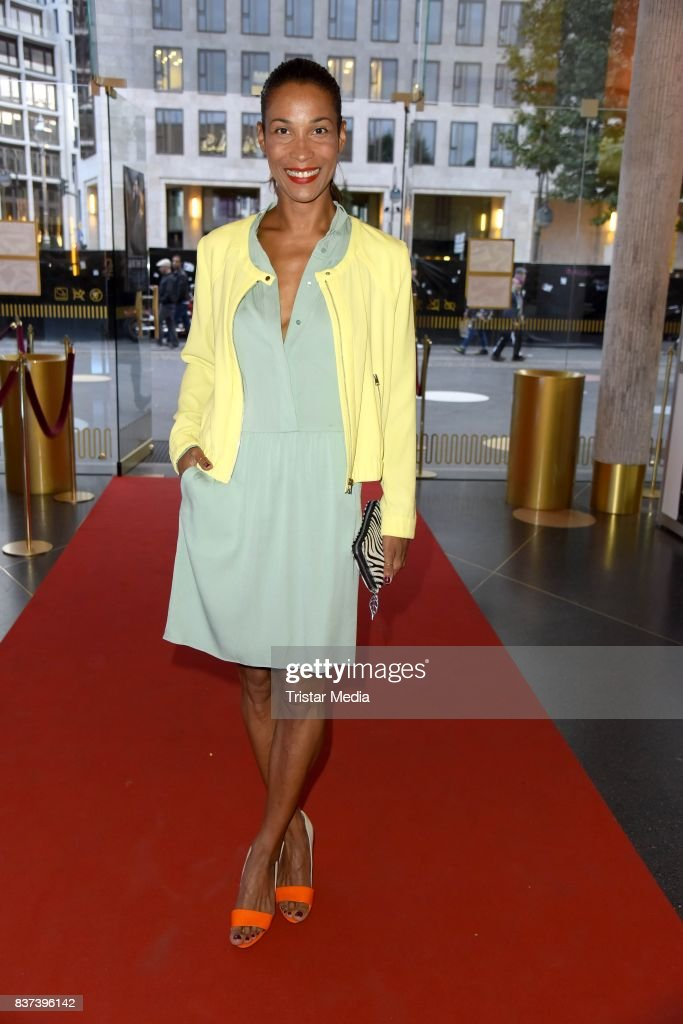 Annabelle Mandeng attends the premiere of 'Jugend ohne Gott' at Zoo Palast on August 22, 2017 in Berlin, Germany.
