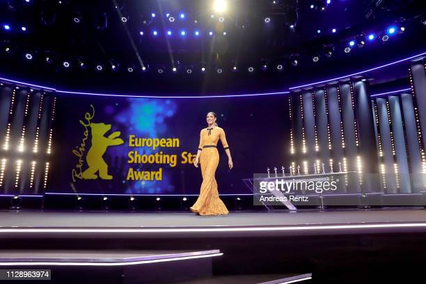 Annabelle Mandeng is seen on stage at the European Shooting Stars 2019 ceremony and Vice premiere during the 69th Berlinale International Film...