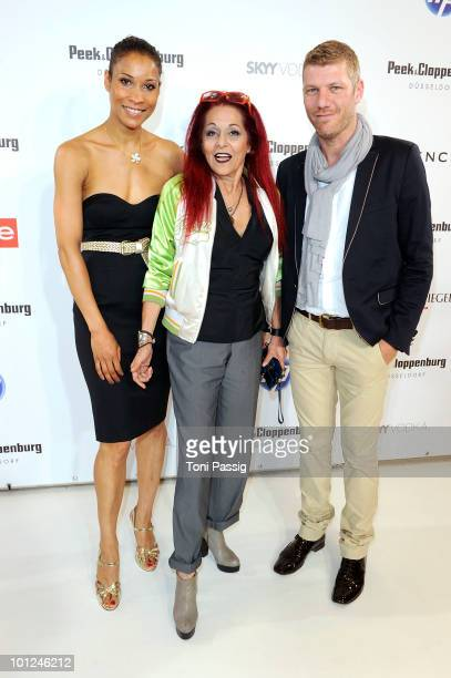 Annabelle Mandeng stylist Patricia Field and Stefan Lindemann attend the 'Sex And The City 2' movie night at the Peek Cloppenburg flagship store on...