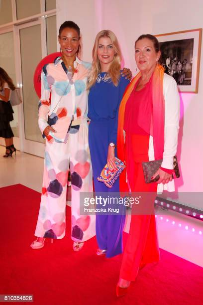 Annabelle Mandeng Tanja Buelter and Katy Karrenbauer attend the Gala Fashion Brunch during the MercedesBenz Fashion Week Berlin Spring/Summer 2018 at...