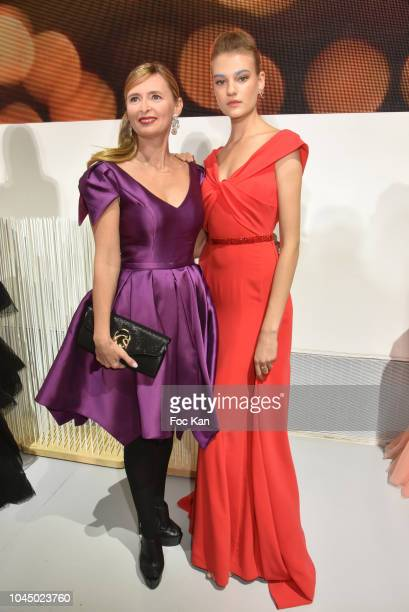 Annabelle Millot and Agatha Maksimova attend the Christophe Guillarme show as part of the Paris Fashion Week Womenswear Spring/Summer 2019 on October...