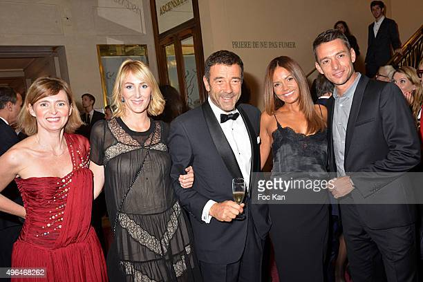 Annabelle Milot TV presenters Sophie Depooter Jean Marie Juan Karine Arsene and Stephane Jobert attend '23rd Gala Pour L'Espoir 2015' Auction Show To...