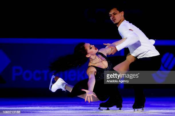 Annabelle Morozov and Andrei Bagin of Russia perform during the Gala Exhibition of the ISU GP Rostelecom Cup 2018 at the Megasport Arena in Moscow...