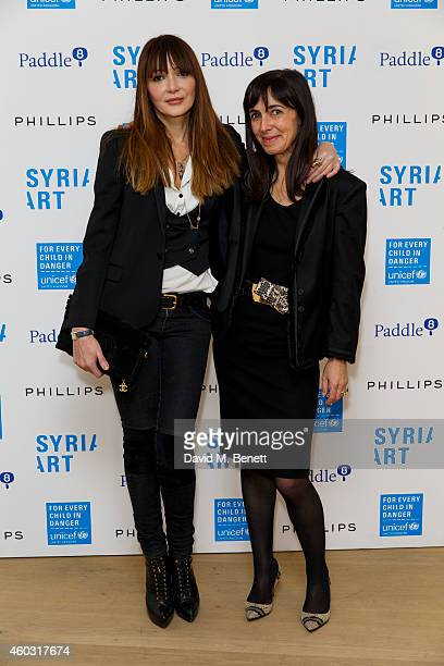 Annabelle Neilson and Anne Deniau attend Unicef UK's SyriART auction as artworks from leading contemporary artists went under the hammer at Phillips...