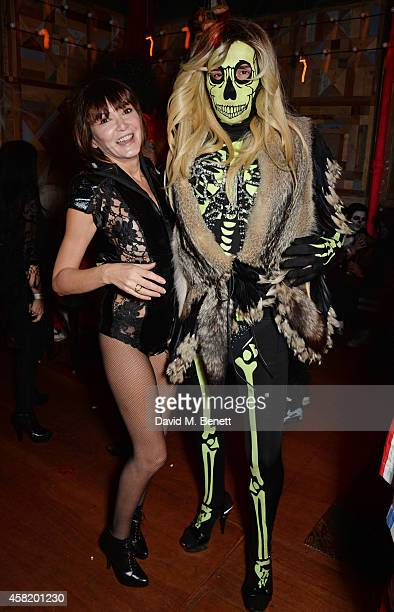 Annabelle Neilson and Fat Tony attend 'Death Of A Geisha' hosted by Fran Cutler and Cafe KaiZen with Grey Goose on October 31 2014 in London England
