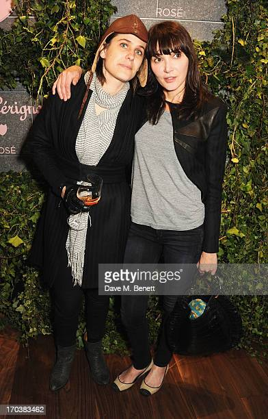 Annabelle Neilson and guest attend the Dom Perignon Rose 2002 Dark Jewel launch with Stephen Webster at The Connaught Hotel on June 12 2013 in London...