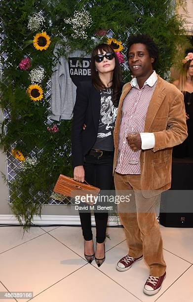 Annabelle Neilson and Guest attend the Lady Garden x Topshop campaign launch featuring a sweatshirt collection by designer Simeon Farrar in aid of...