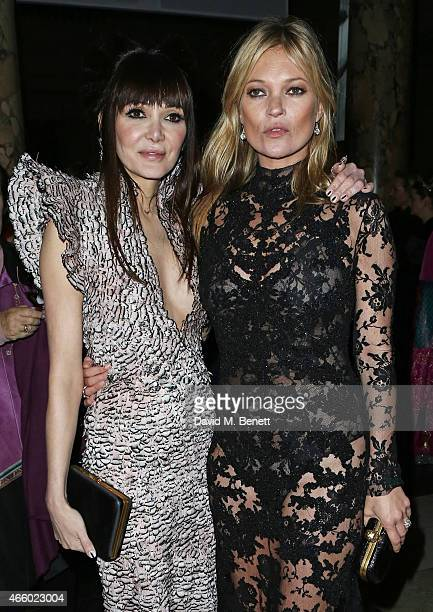 Annabelle Neilson and Kate Moss arrive at the Alexander McQueen Savage Beauty Fashion Gala at the VA presented by American Express and Kering on...