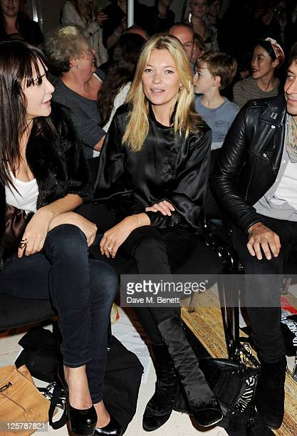 Annabelle Neilson and Kate Moss attend the James Small Menswear Spring/Summer 2012 runway show during London Fashion Week at the Vauxhall Fashion...