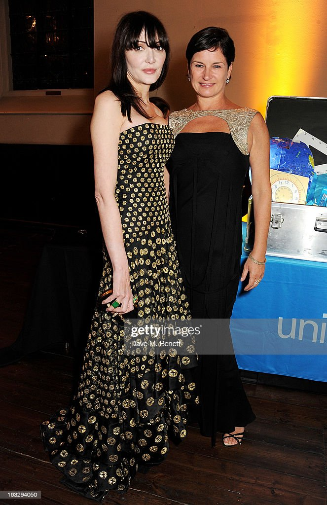 Annabelle Neilson (L) and Miranda Davis attend The Jasmine Ball in aid of UNICEF's Children of Syria Emergency Appeal at One Mayfair on March 7, 2013 in London, England.