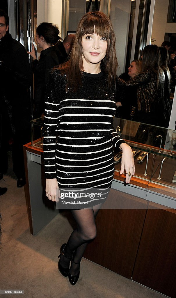 Annabelle Neilson attends a private viewing of 'Gaucho', a photographic exhibition by Astrid Munoz, at the Jaeger-LeCoultre Boutique on January 31, 2012 in London, England.