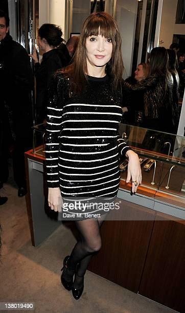 Annabelle Neilson attends a private viewing of 'Gaucho' a photographic exhibition by Astrid Munoz at the JaegerLeCoultre Boutique on January 31 2012...