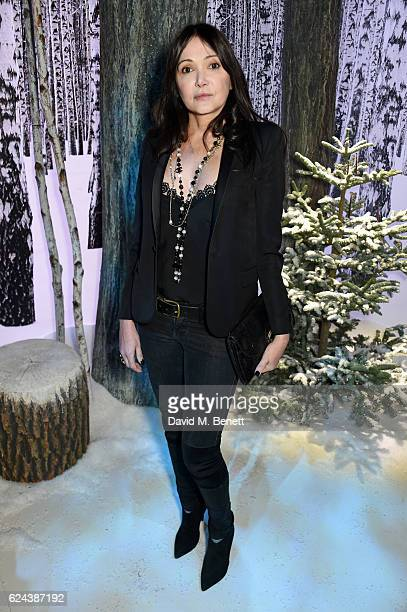 Annabelle Neilson attends Claridge's Christmas Tree 2016 Party with tree designed by Sir Jony Ive and Marc Newson at Claridge's Hotel on November 19...