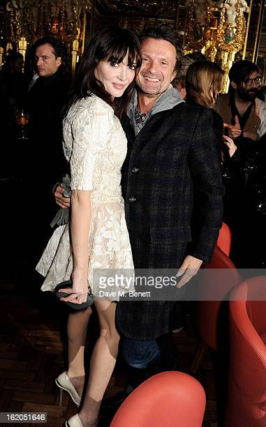 Annabelle Neilson attends the AnOther Magazine and Dazed Confused party with Belvedere Vodka at the Cafe Royal hotel on February 18 2013 in London...