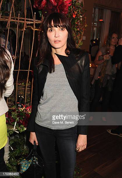 Annabelle Neilson attends the Dom Perignon Rose 2002 Dark Jewel launch with Stephen Webster at The Connaught Hotel on June 12 2013 in London England