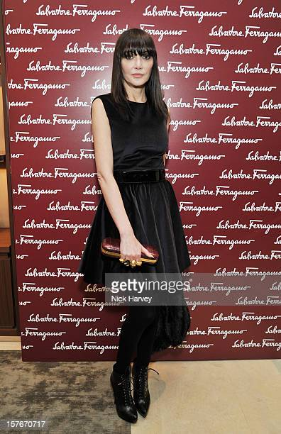 Annabelle Neilson attends the flagship store launch of Salvatore Ferragamo's Old Bond Street Boutique at 24 Old Bond Street on December 5 2012 in...