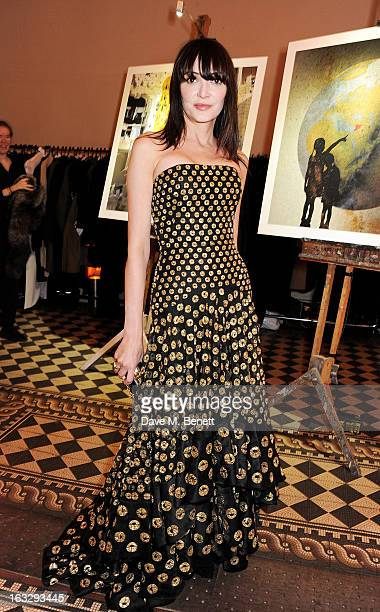 Annabelle Neilson attends The Jasmine Ball in aid of UNICEF's Children of Syria Emergency Appeal at One Mayfair on March 7 2013 in London England