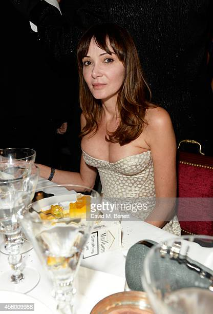 Annabelle Neilson attends the launch of Annabel's DocuFilm A String of Naked Lightbulbs at Annabel's on October 28 2014 in London England
