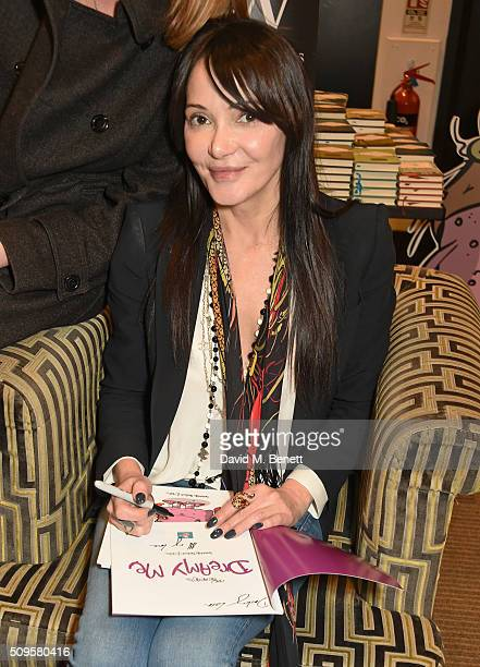 Annabelle Neilson attends the launch of her new children's books 'Dreamy Me' and 'Messy Me' at Waterstones Piccadilly on February 11 2016 in London...