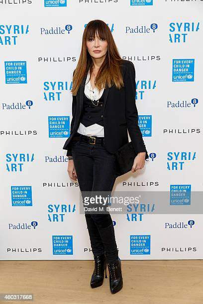Annabelle Neilson attends Unicef UK's SyriART auction as artworks from leading contemporary artists went under the hammer at Phillips Gallery on...