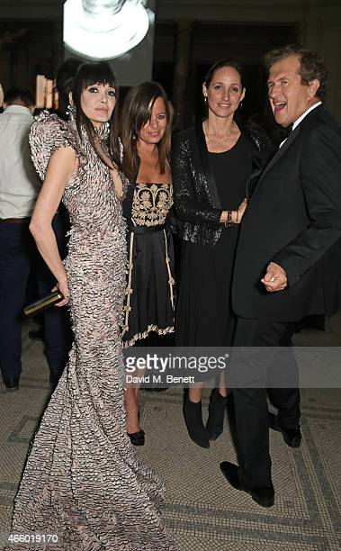 Annabelle Neilson Jade Jagger Rosemary Ferguson and Mario Testino attend the Alexander McQueen Savage Beauty Fashion Gala at the VA presented by...