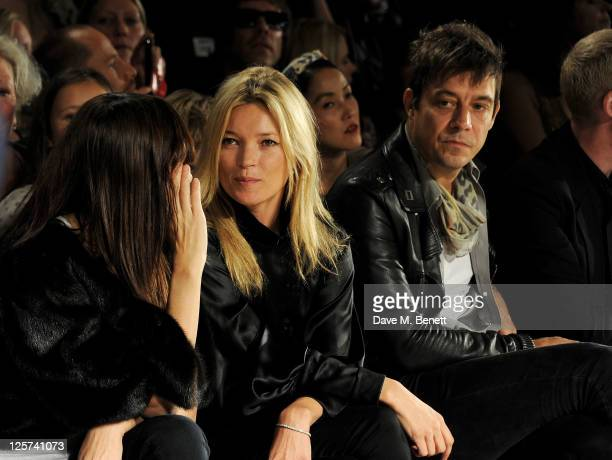 Annabelle Neilson Kate Moss and Jamie Hince sit in the front row at the James Small Menswear Spring/Summer 2012 runway show during London Fashion...