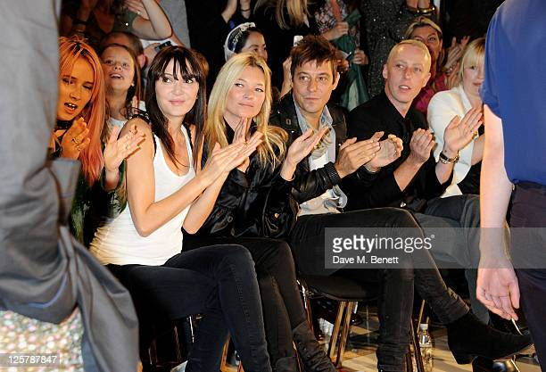 Annabelle Neilson Kate Moss Jamie Hince James Brown and Flora Evans attend the James Small Menswear Spring/Summer 2012 runway show during London...
