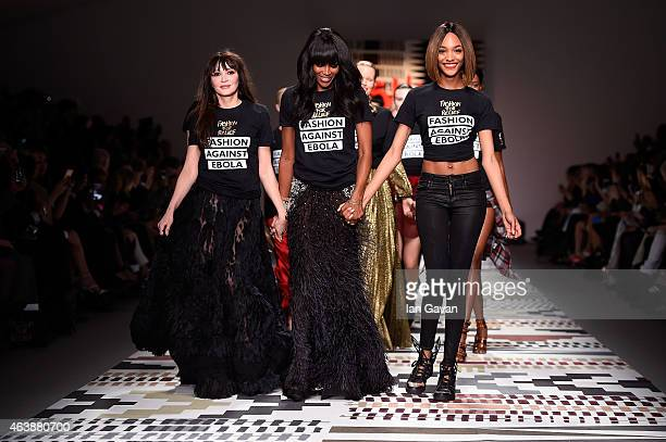 Annabelle Neilson Naomi Campbell and Jourdan Dunn walk the runway at the Fashion For Relief charity fashion show to kick off London Fashion Week...