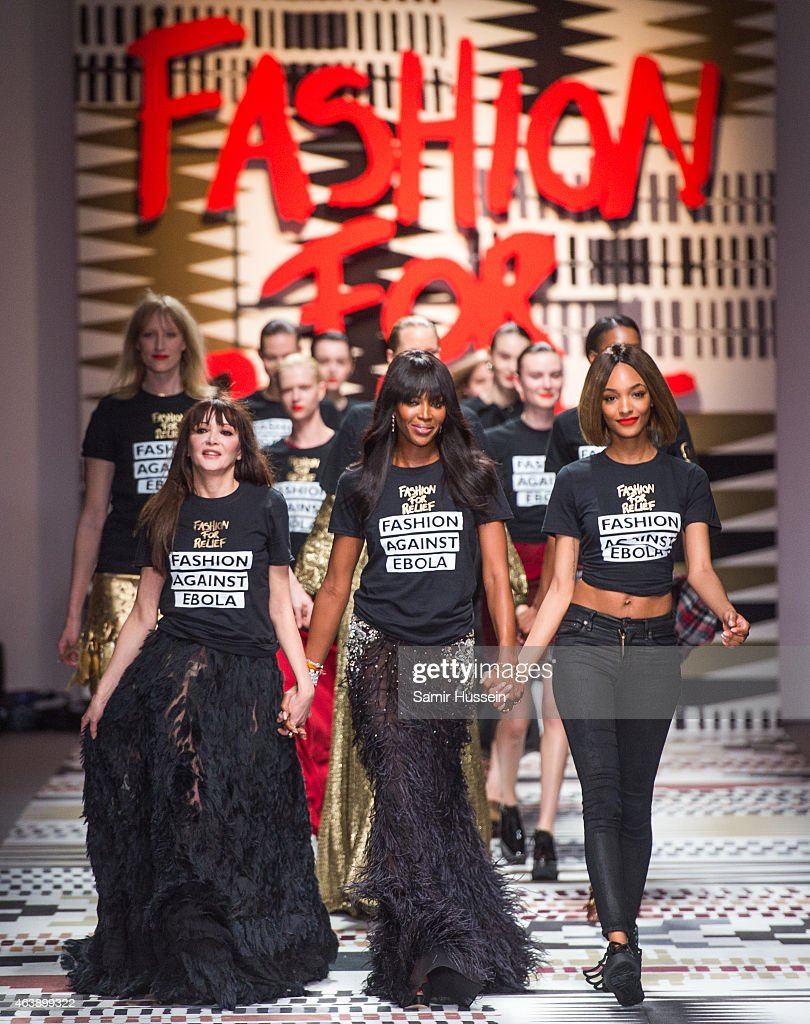 Annabelle Neilson, Naomi Campbell and Jourdan Dunn walk the runway at the Fashion For Relief charity fashion show to kick off London Fashion Week Fall/Winter 2015/16 at Somerset House on February 19, 2015 in London, England. The Fashion For Relief show is in support of Ebola, raising funds and awareness for Disaster Emergency Committee: Ebola Crisis Appeal and the Ebola Survival Fund.