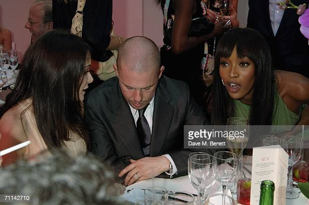 Annabelle Nielsen designer Alexander McQueen and model Naomi Campbell attend the Glamour Women Of The Year Awards the annual awards recognising the...